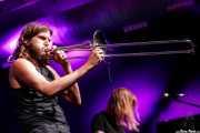 Trombonista de ¡Pendejo! (Santana 27, Bilbao, 2018)
