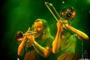 El Pastuso, cantante y trompetista de ¡Pendejo! (Santana 27, Bilbao, 2018)