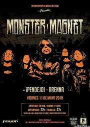 Cartel de Monster Magnet (Santana 27, Bilbao, 2018)