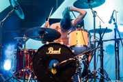 Guillermo Peña, baterista de Dead Bronco (Aste Nagusia - Plaza Nueva, Bilbao, 2018)