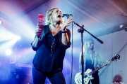 Inge Isasi -voz- y Marga Alday -bajo- de MoonShakers (Aste Nagusia - Algara Txosna, Bilbao, 2018)