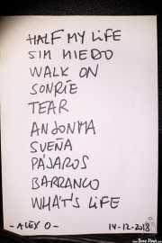 Setlist de The WOP Band (Palacio Euskaduna Jauregia, Bilbao, 2018)