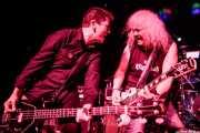 Fumai -bajo- y Xabi Garre -voz y guitarra- de Señor No (Rock&Rolla, Berango, 2018)