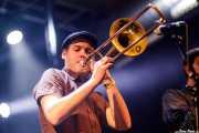Art LaRock, trombonista de The Cherry Boppers (Santana 27, Bilbao, 2018)