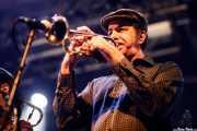 Sweet Stepanopoulos, trompetista de The Cherry Boppers (Santana 27, Bilbao, 2018)