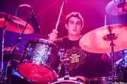 Mikel Bidarrazaga, baterista de Wicked Wizzard (Kafe Antzokia, Bilbao, 2019)