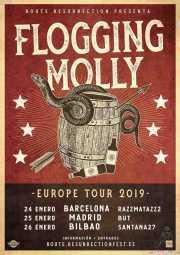 Cartel de Flogging Molly (Santana 27, Bilbao, )