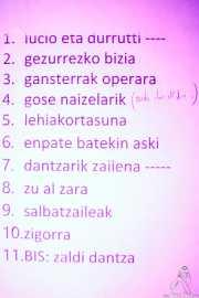 Setlist de Joseba Irazoki eta lagunak (Kafe Antzokia, Bilbao, 2019)