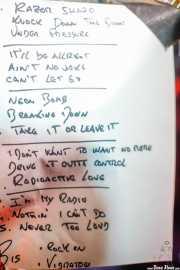 Setlist de Bullet Proof Lovers