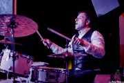 George Wylde, baterista de Thee Wylde Oscars (Shake!, Bilbao, 2019)