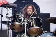 Phil Beaver, baterista de Inglorious (Azkena Rock Festival, Vitoria-Gasteiz, 2019)
