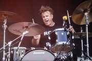 Andy Strachan, baterista de The Living End (Azkena Rock Festival, Vitoria-Gasteiz, 2019)
