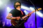 """Thomas """"Juneor"""" Andersson, cantante y guitarrista de Kamchatka (Santana 27, Bilbao, 15/XII/2019)"""