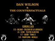 Cartel de Dan Wilson & The Counterfactuals (Colegio de Abogados, Bilbao, )