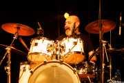 """Javier Lizarazu """"Puntxes"""", baterista de Tahúres Zurdos (Sala BBK, Bilbao, 2020)"""