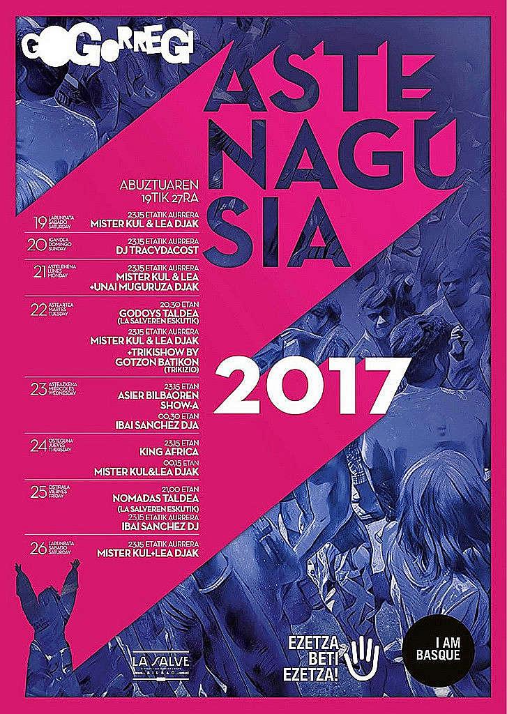 Cartel Aste Nagusia 2017 Gogorregi