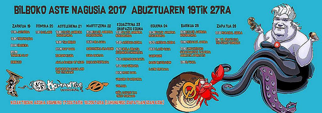 Cartel Aste Nagusia 2017 Komantxe