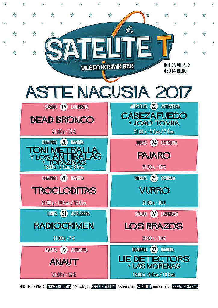 Cartel Aste Nagusia 2017 Satélite T