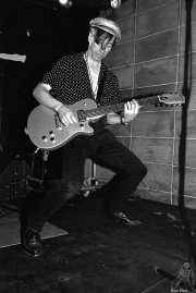Keith Streng, guitarrista y cantante de The Fleshtones (Sala Azkena, Bilbao, )