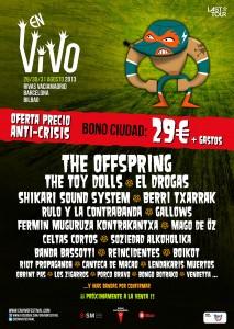Cartel del festival En Vivo 2013