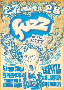 Cartel del festival Fuzz in the city 2015