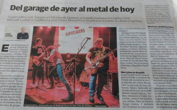 Supersiders por Dena Flows, publicada (sin permiso, ni pago) en El Comercio de Gijón el 8 de mayo de 2015