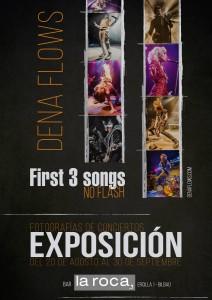 Cartel de la exposición de Dena Flows en La Roca, Bilbao