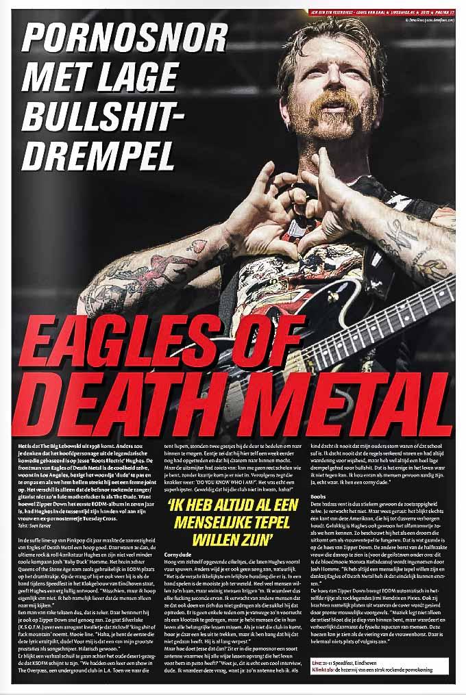 Eagles of Death Metal en LiveGuine.nl 16, noviembre de 2015