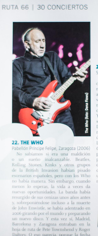 The Who en el Ruta 66 - 331, noviembre de 2015. Especial 30 aniversario