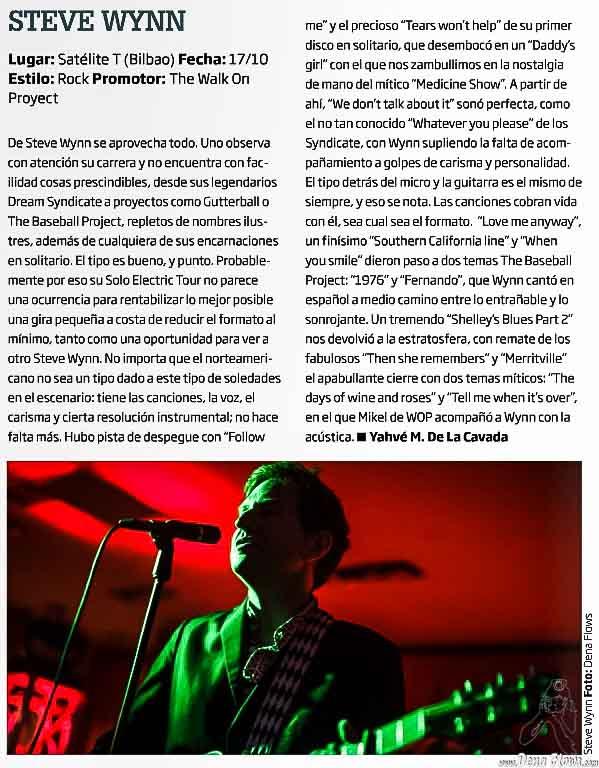 Steve Wynn en Zarata (Mondo Sonoro) 233, noviembre de 2015