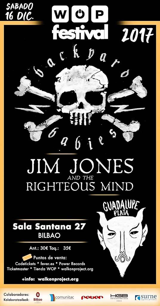 Cartel del WOP Festival 2017, Santana 27, Bilbao, 16/XII/2017