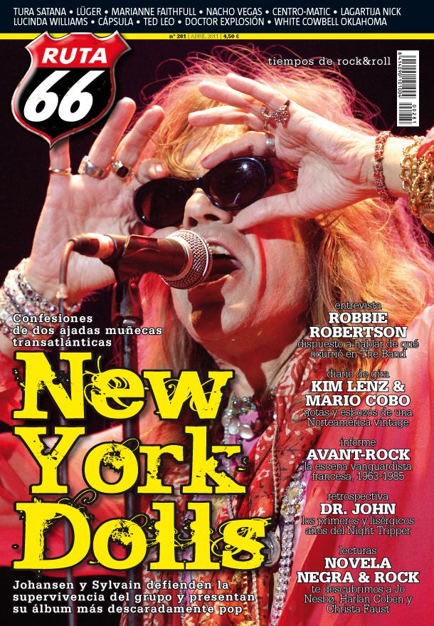 David Johansen, de New York Dolls, portada de Ruta 66