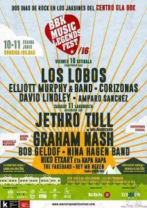 Cartel del Music Legends Fest 2016, Centro La Ola, Sondika, 10/VI/2016