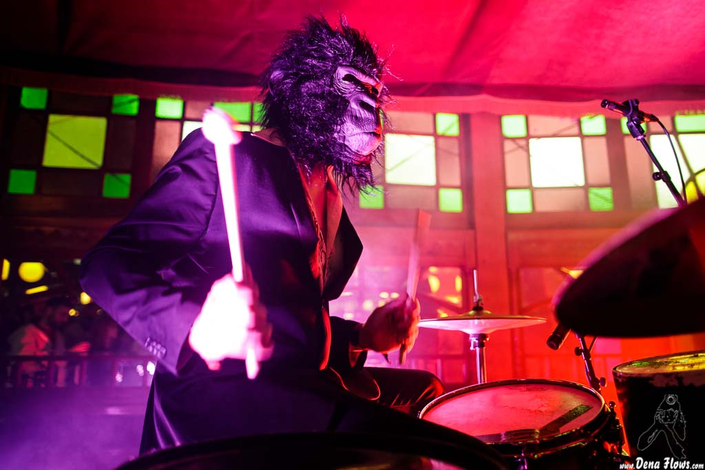 Antonio Pelomono, baterista de Pelo Mono (Azkena Rock Festival 2017)