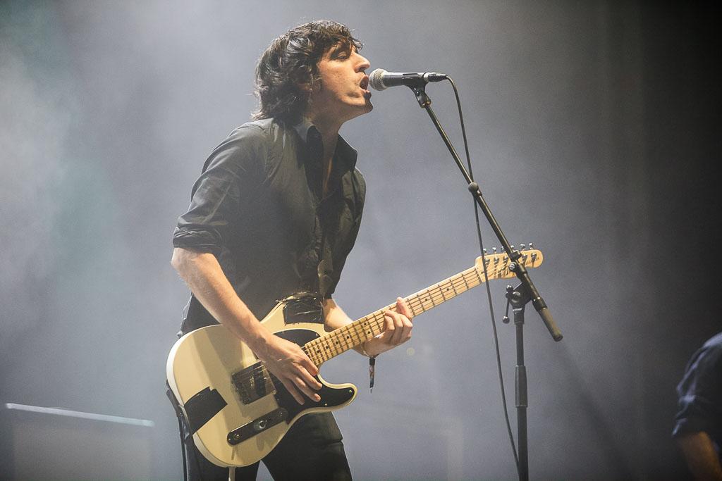 Álvaro García, cantante y guitarrista de Biznaga, Bilbao BBK Live 2017, Kobetamendi, Bilbao, 8/VII/2017