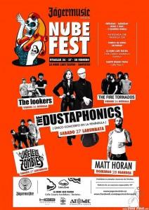 Cartel del Nubefest 2016 (The Dustaphonics y Ukelele Zombies)